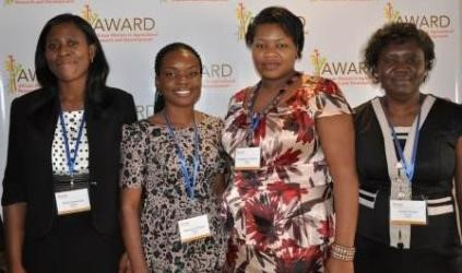 Winner: Blessing Odugwu (Second left)