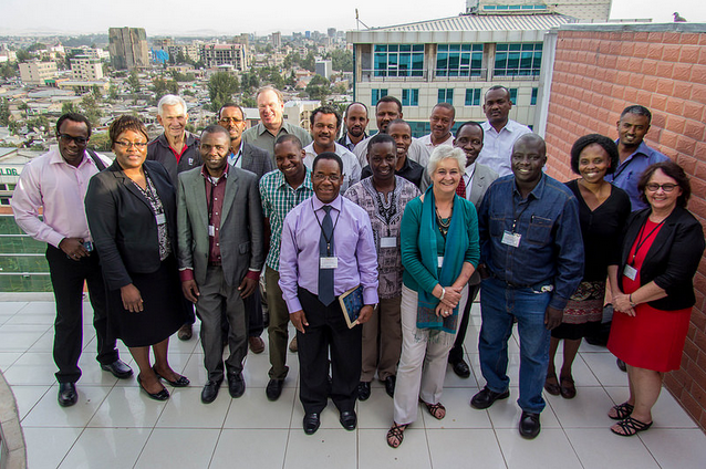 Some of the Agshare Implementing Members at a Convening in Addis Ababa, Ethiopia
