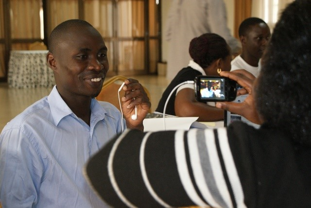 Above: Students at a Retooling Workshop in Mukono, Uganda