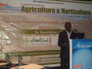 Gabriel Ddamulira 4th International conference on Agriculture and Horticulture in Beijing, China