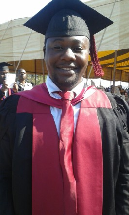 Above: Kumbukani on his graduation day