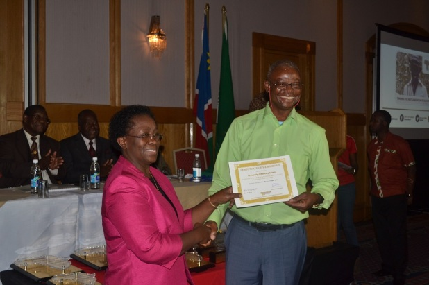 Above: University of University of Abomey Calavi (Benin), receive their membership certificate