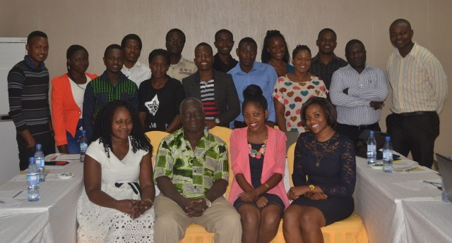 Above: Social Media Reporters at the opening of the training by Prof. Adipala in Golden Peacock Hotel, Lilongwe Malawi