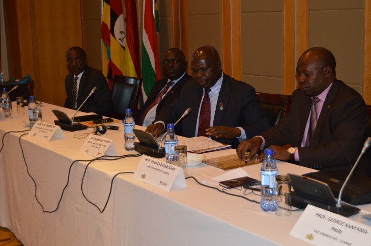 Above: African Ministers signing the Communique during the meeting