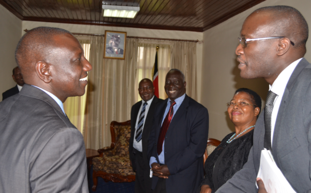 Left to Right: Hon. William Ruto, Deputy President of Kenya meeting the RUFORUM Delegates in Nairobi, Kenya