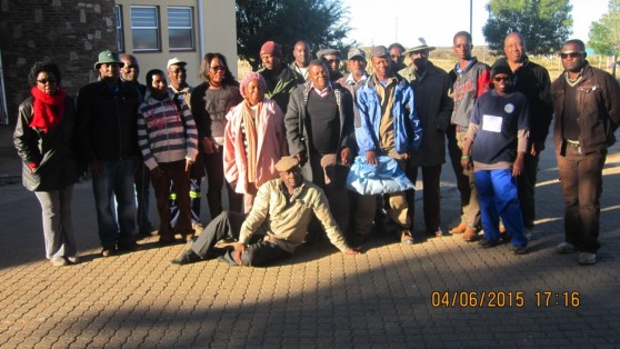 Participants at the Information Day on indigenous legumes at Neudamm campus, UNAM