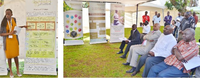 Members of the RUFORUM Secretariat explained a detailed exhibition which presented the strategic approach of the RUFORUM