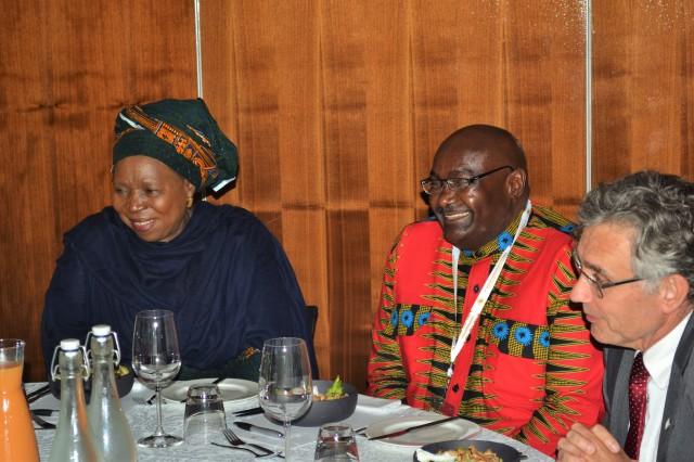 H.E Nkosazana Dlamini-Zuma (Left), Prof. Peter Mbati, VC University of Venda