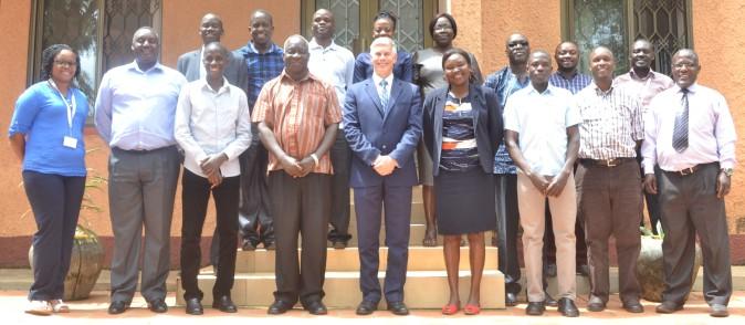 Dr. David J. Bergvinson (Centre) with RUFORUM and ICRISAT staff at the RUFORUM Secretariat