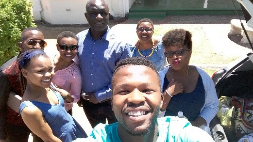 Professor Muchenje, Dr Njisane with the University of Fort Hare Post Graduate Students
