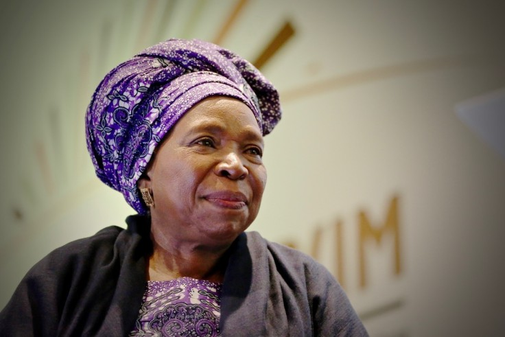 Her Excellency Dr. Nkosasana Dlamini Zuma, Chairperson of the African Union Commission at the fifth Biennial Conference and Higher Education Week in Cape Town, South Africa. Photo Credit: Aletta Harrison