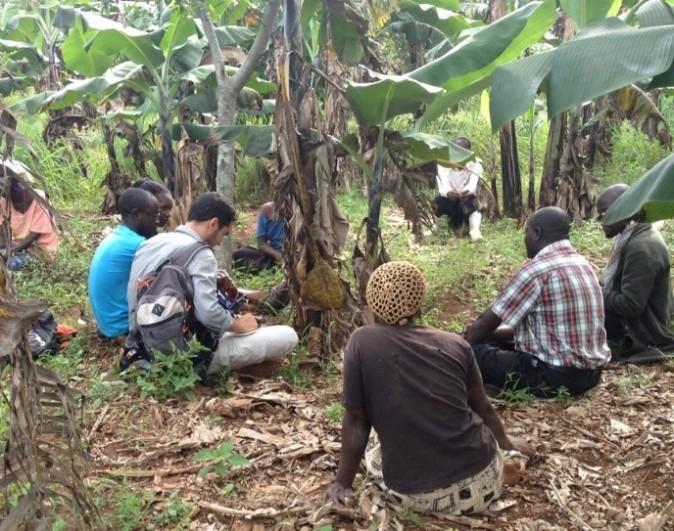 Above: PhD students in Rakai Working with Communities