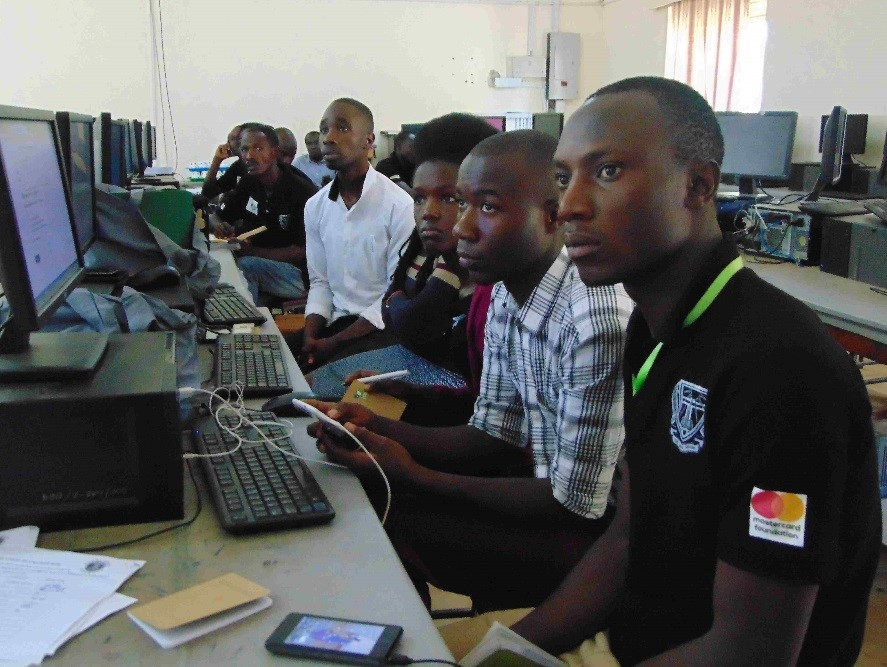 Students attending training